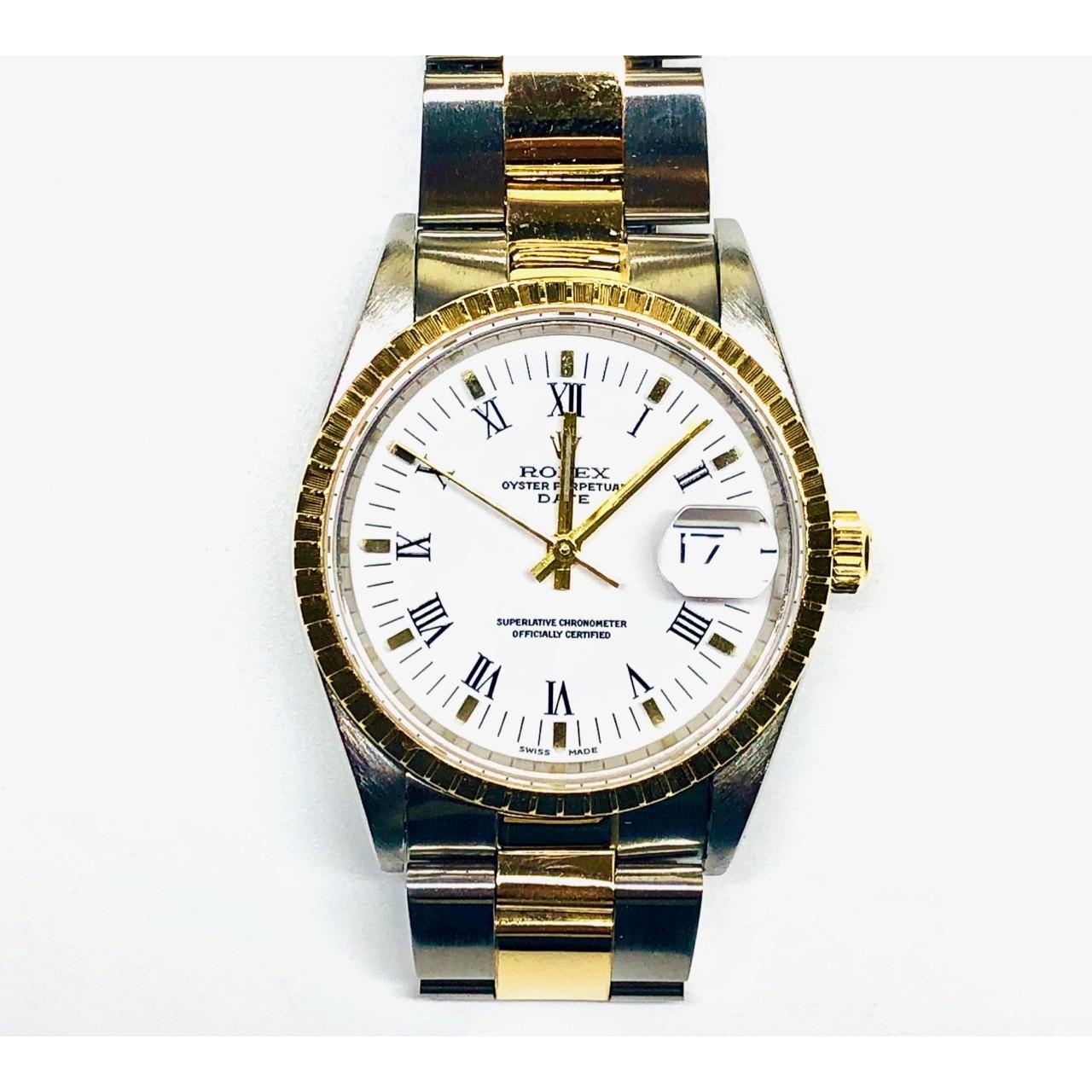 miglior servizio d32d9 0117c Orologio Rolex Oyster Perpetual Date acciaio oro