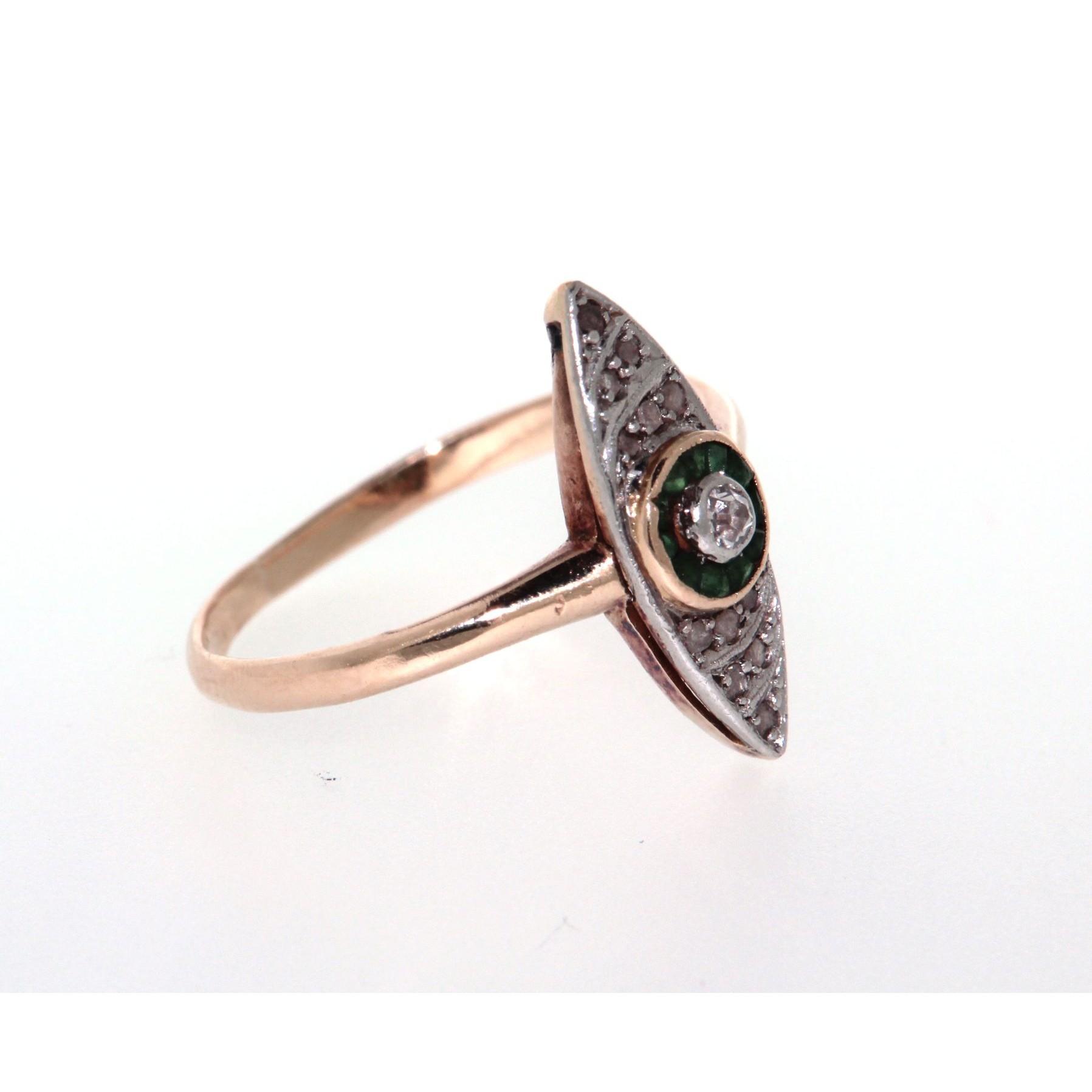 Diamanti E LosangaCon OroStile Anello Smeraldi In 6ygYb7f