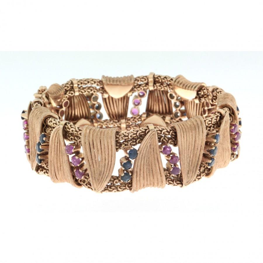 Bracciale in oro rosa18 kt  anni  50 60 lavorazione artigianale