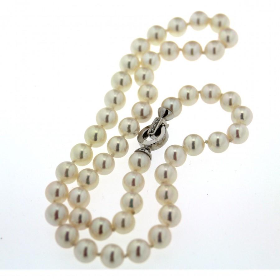 Collana di perle coltivate in acqua salata Giapponesi Akoya