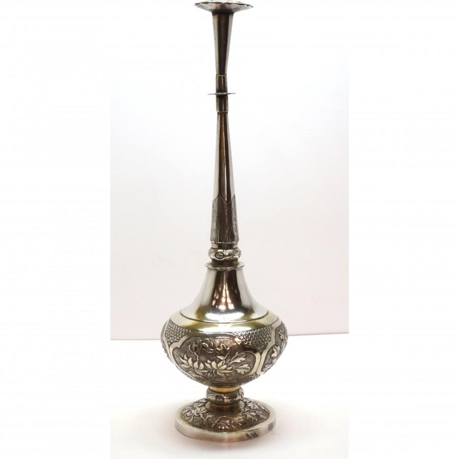 Spargi essenza per acqua di rose lavorazione orientale argento 925 d'epoca