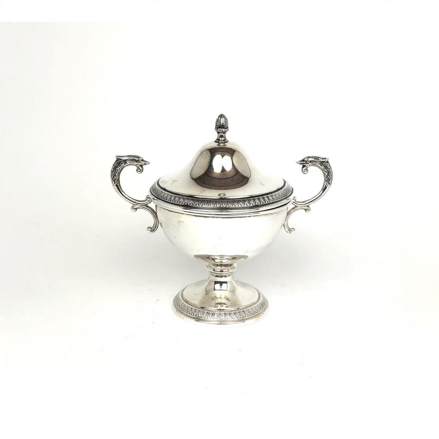 Zuccheriera argento 800 stile impero, usata.