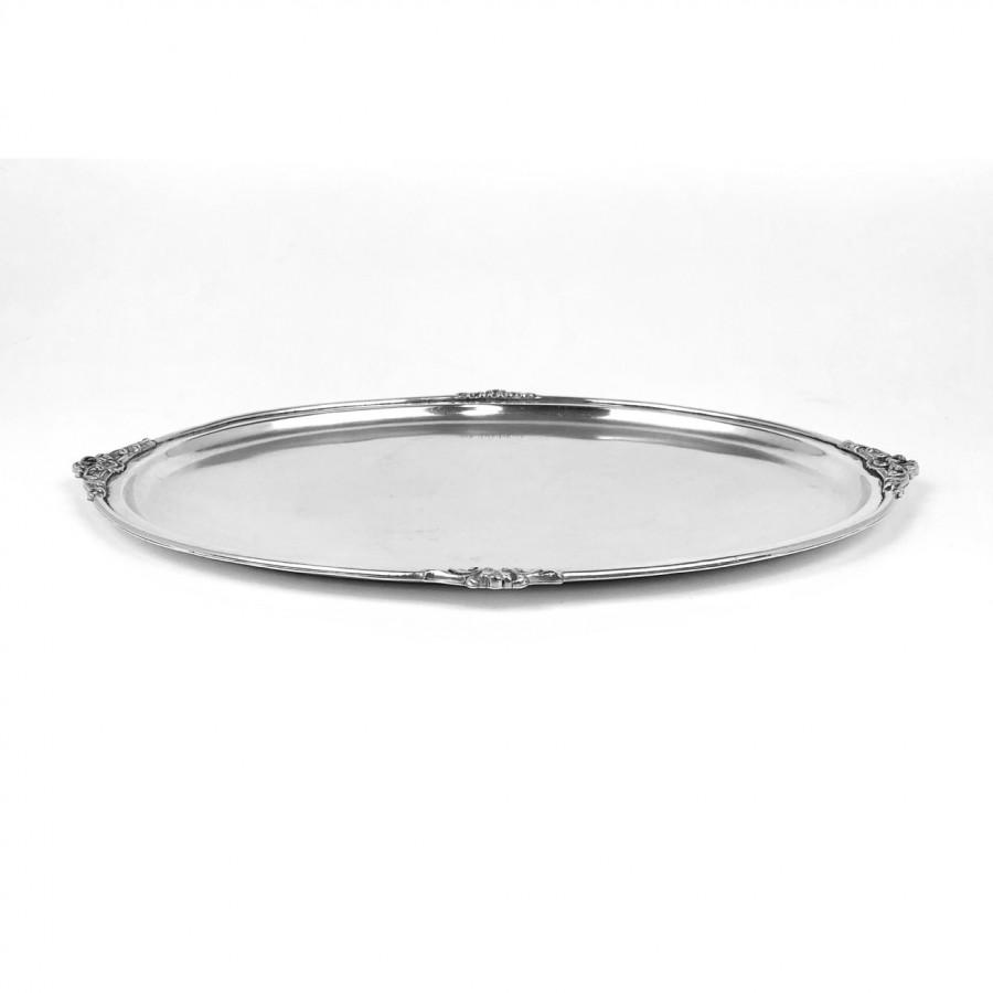 Vassoio ovale arg.800 usato, bollo FI21