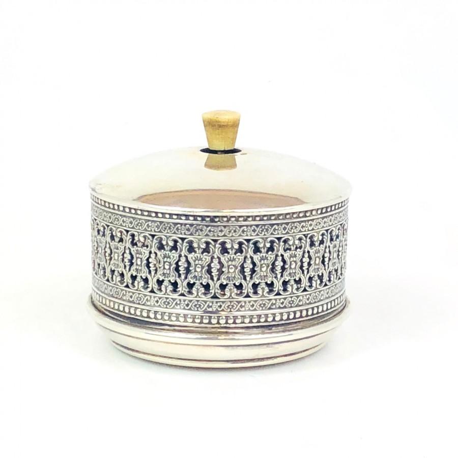 Campanello di chiamata in argento 800 usato bollo AL 1-  anni '60 C&SA