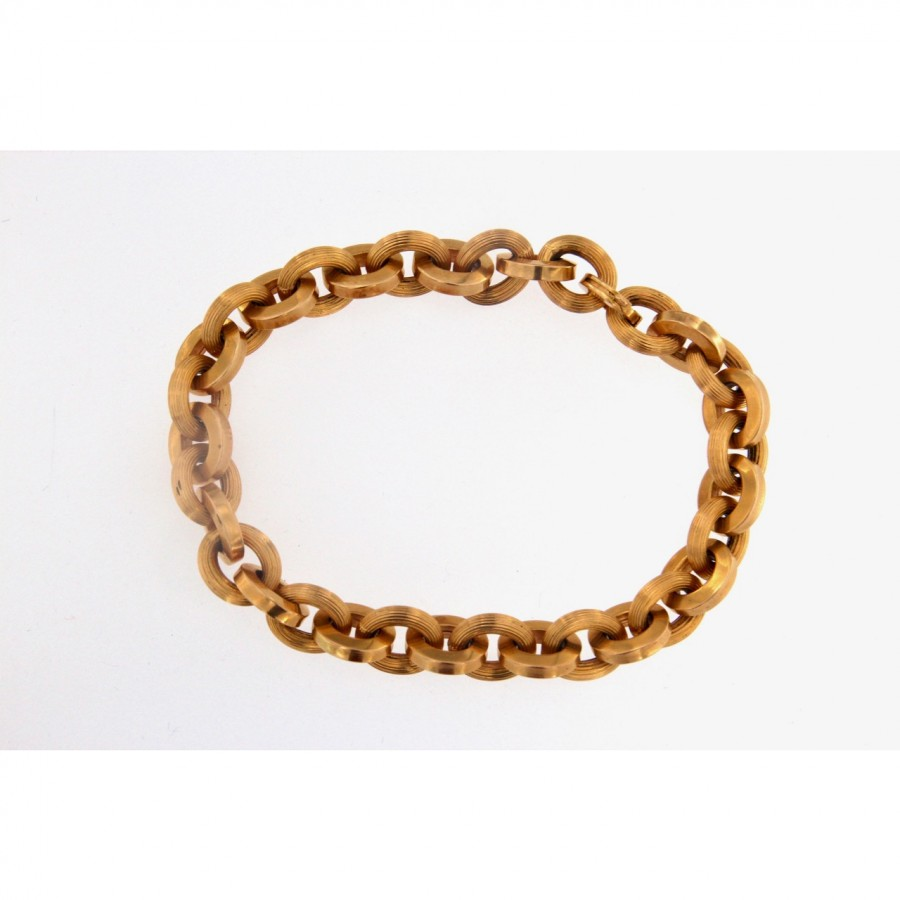 Bracciale in oro 750 maglie vuote