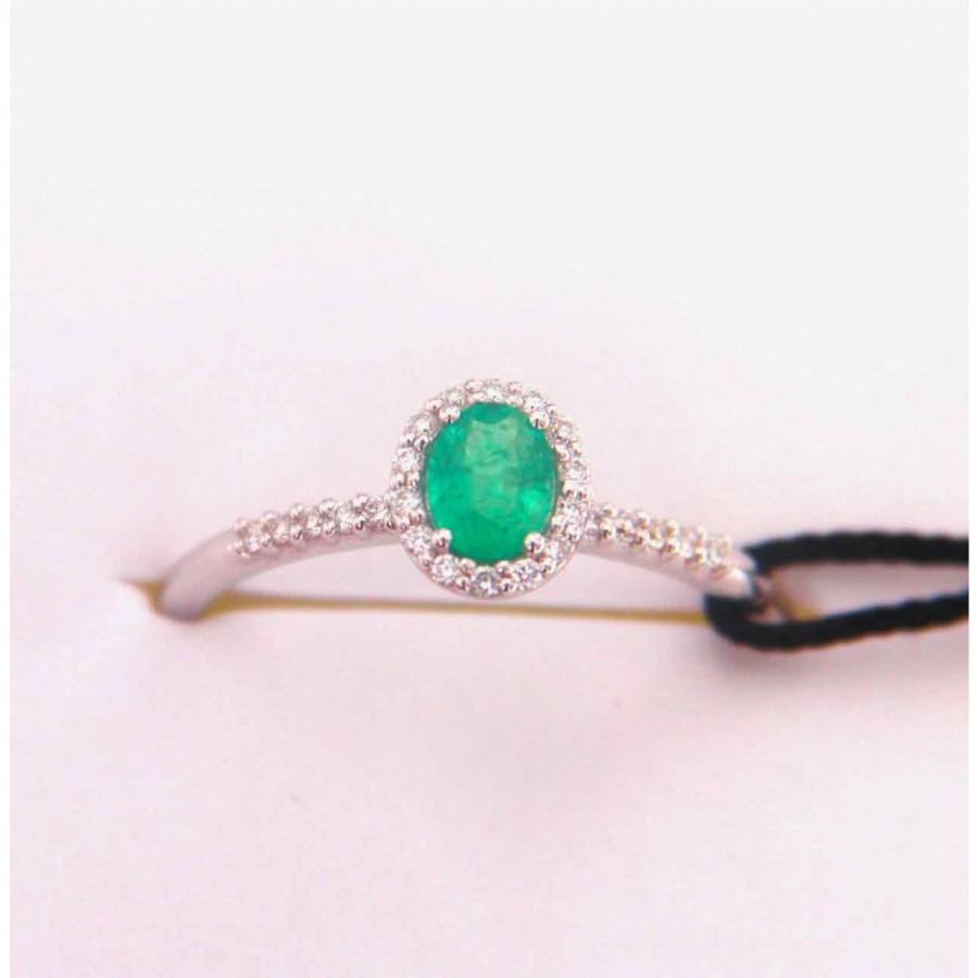 Anello Recarlo oro bianco 18 kt. con smeraldo
