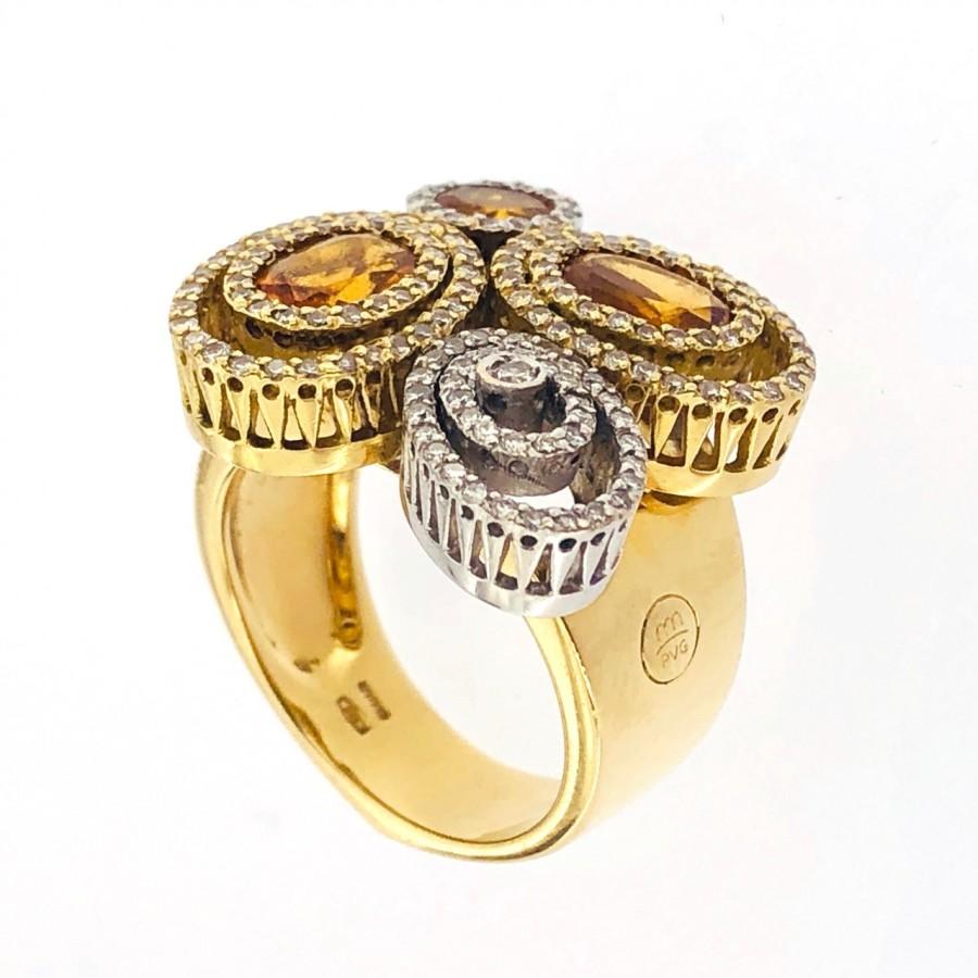 Anello in oro18 kt  usato Marchio Pontevecchio