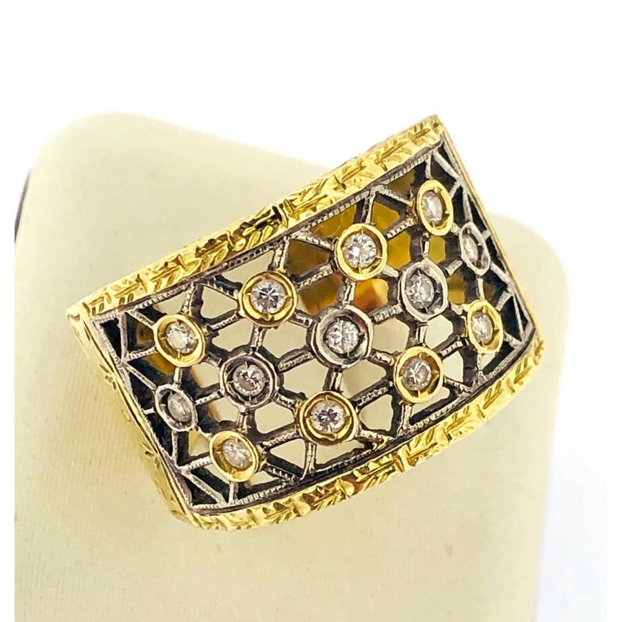 Anello in oro 18 kt lavorazione Buccellati  usato