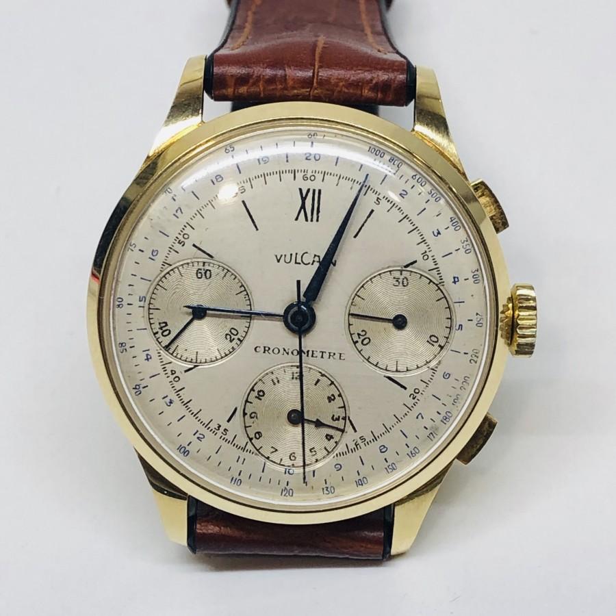 Orologio  usato Vulcain Cronografo in oro