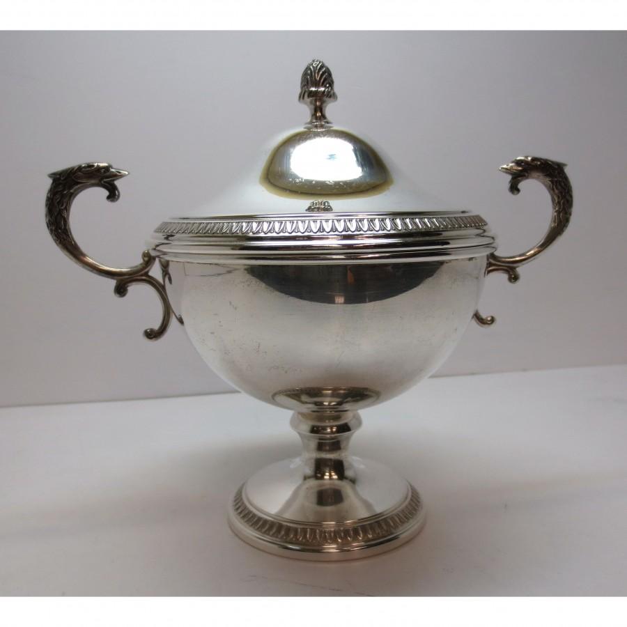Zuccheriera in argento 800 stile impero d'epoca anni 50