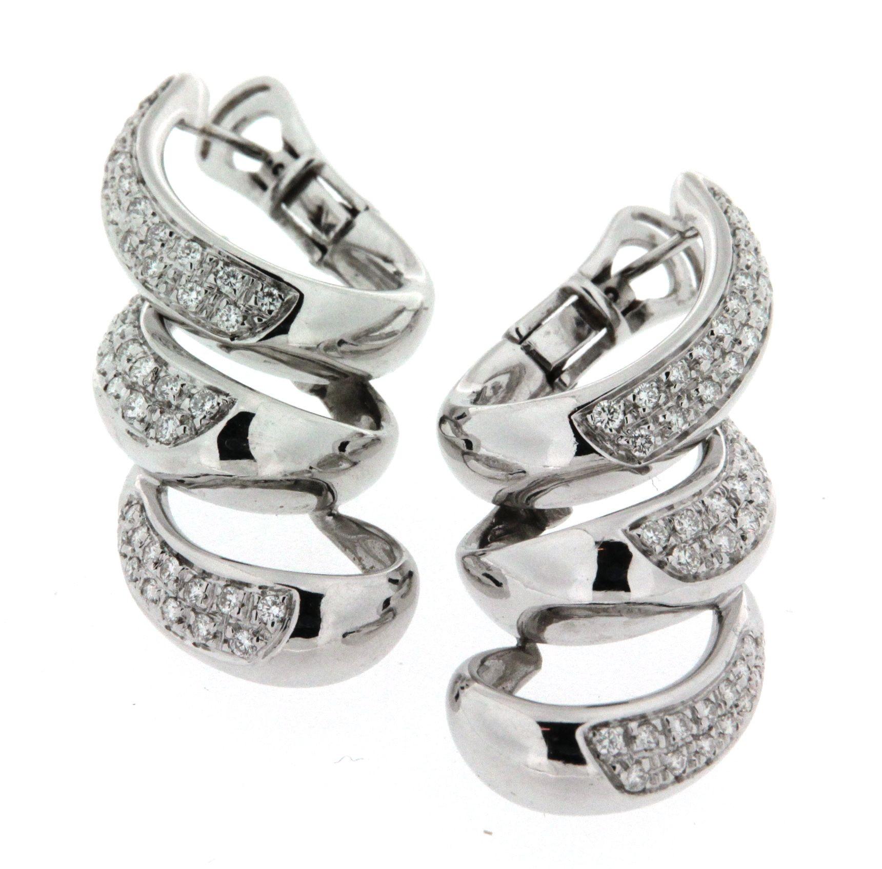 separation shoes 3e884 a3783 Orecchini Damiani in oro bianco con pavé di diamanti
