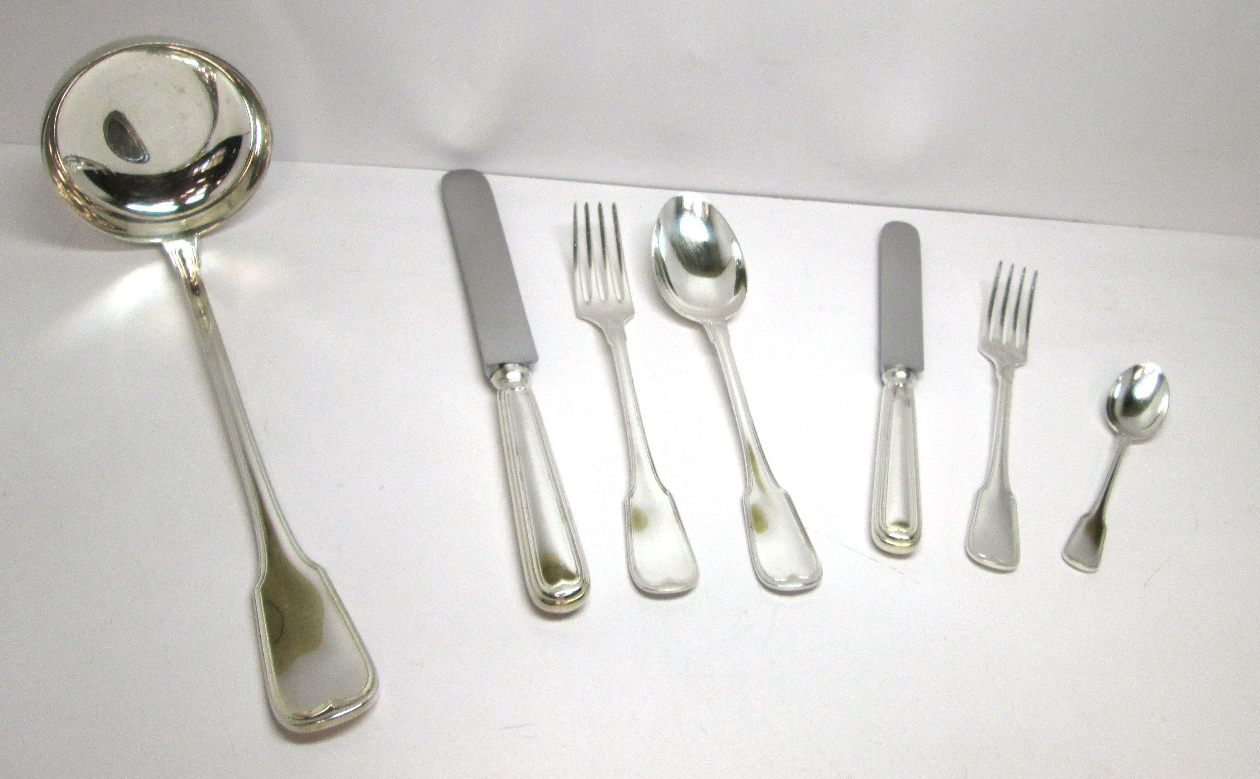 servizio di posate in argento d 39 epoca stile mauriziano