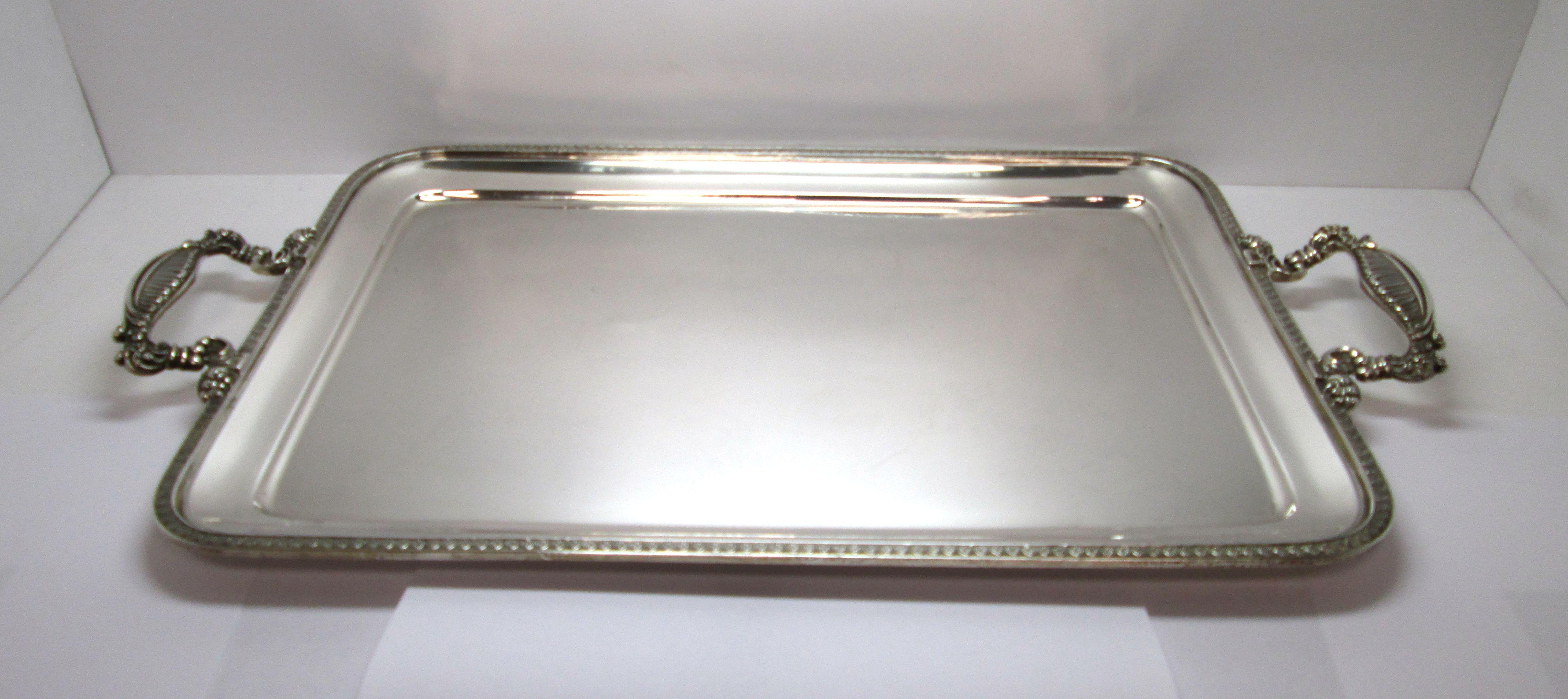 vassoio in argento 800 usato anni 39 60 di forma