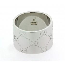 Anello a fascia Gucci in oro bianco 18 kt