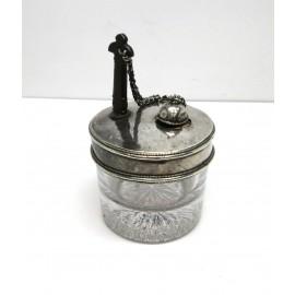 Calamaio/portainchiostro in argento 900 d'epoca