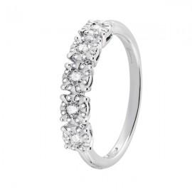 Veretta Salvini Collezione Daphne Miss oro bianco 18 kt e diamanti ct 0,032