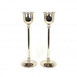 Due porta candela in argento 800 moderni  fatti a mano