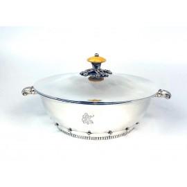 Porta vivande in argento 800 d'epoca bollo M.Hammer