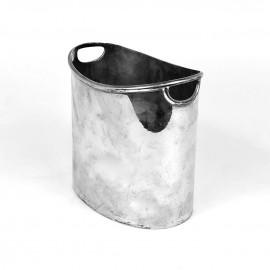 Portaghiaccio ovale usato in argento '800 usato
