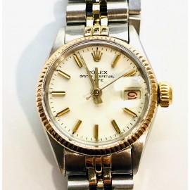 Orologio usato Rolex Perpetual Date Lady acciaio oro