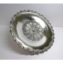Piatto in argento 800 d'epoca anni 50 disegni di foglie