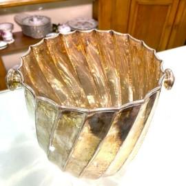 Porta Champagne Secchio in argento 800 vintage