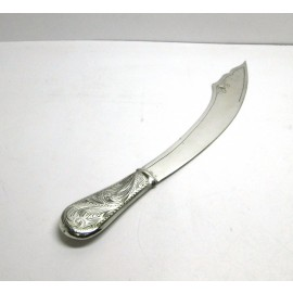 Tagliacarte in argento 800 con manico inciso d'epoca