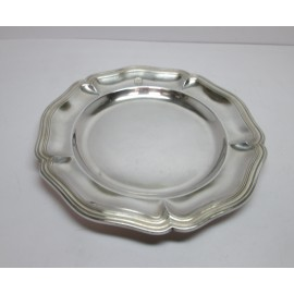 Piatto in argento 800 d'epoca con stemma casato