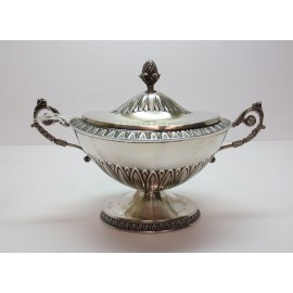 Zuccheriera in argento 800 d'epoca anni 50 stile impero d'epoca