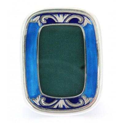 Cornicetta fatta a mano in argento 925 e smalto, gr. 23,3