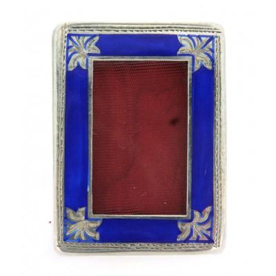 Cornicetta fatta a mano in argento 925 e smalto, gr. 25,3