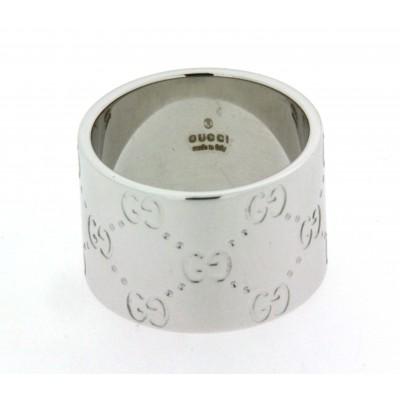 Anello a fascia Gucci in oro bianco 18 kt  usato