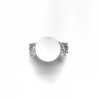 Anello DAPHNE PERLA di Salvini in oro bianco Kt 18 perla e diamanti