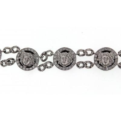 Bracciale Versace in oro bianco e diamanti