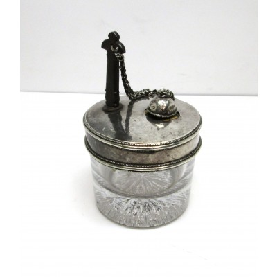 Calamaio/portainchiostro in argento 900 d'epoca. Usato