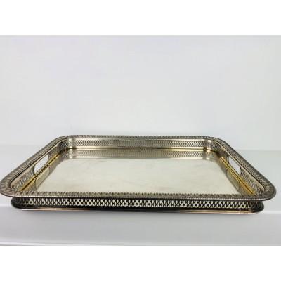 Vassoio usato stile impero argento 800 (