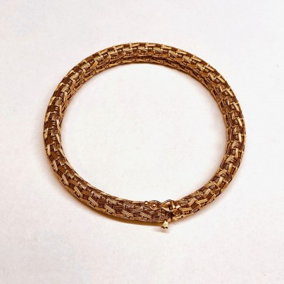 Bracciale usato, oro rosa,18 Kt. Gr.38,36 anni 60/70 Bollo- 20VA- Lunghezza cm.18,5