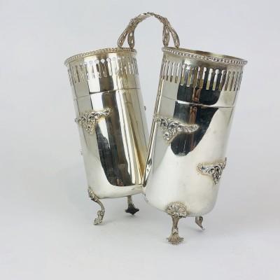 Portagrissini usato argento 800 stile antico anni 50 60 usato