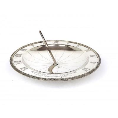 Piatto meridiana in argento 800