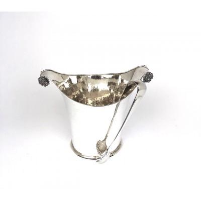 Secchiello ghiaccio con pinza argento