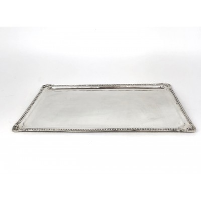Vassoio rettangolare argento '900 fattura Turc