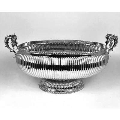 Jatte centro tavola lavorazione turchia argento 900