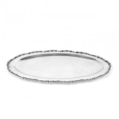 Vassoio ovale usato argento '800 bollo AL376