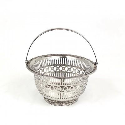 Piccolo cestino argento '925 Sterling numeri seriali Usato