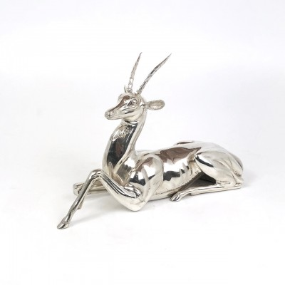 Soprammobile forma animale Stambecco arg.'800