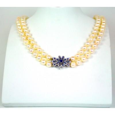 Collana perle Akoya Giappone usata
