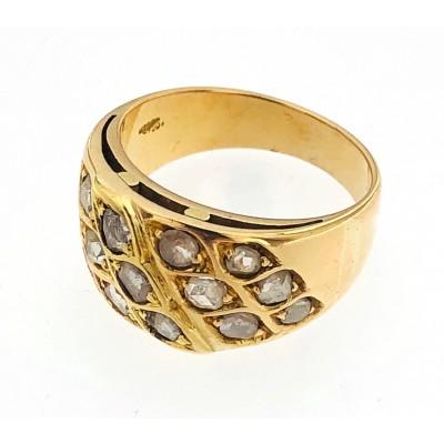 Anello oro giallo 18 kt con rosette