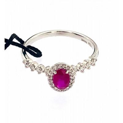 Anello Recarlo con rubino e diamanti oro 18 kt