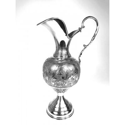 Caraffa in argento 800 d'epoca in stile antico