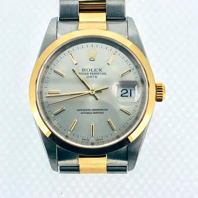 Orologio Rolex Perpetual acciaio oro 15203